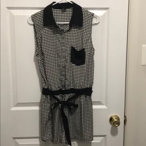 Forever 21 black and white romper, size M